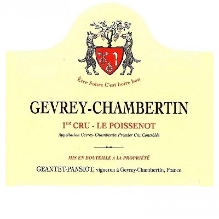 Geantet-Pansiot Gevrey-Chambertin 1er Cru Le Poissenot 2013 (6x75cl)