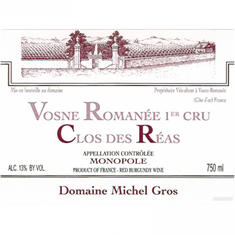 Michel Gros Vosne-Romanee 1er Cru Clos des Reas 2018 (6x75cl)