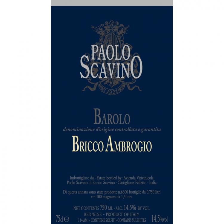 Paolo Scavino Barolo Bricco Ambrogio 2016 (6x75cl)