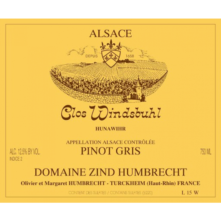 Zind Humbrecht Pinot Gris Clos Windsbuhl 2007 (12x75cl)