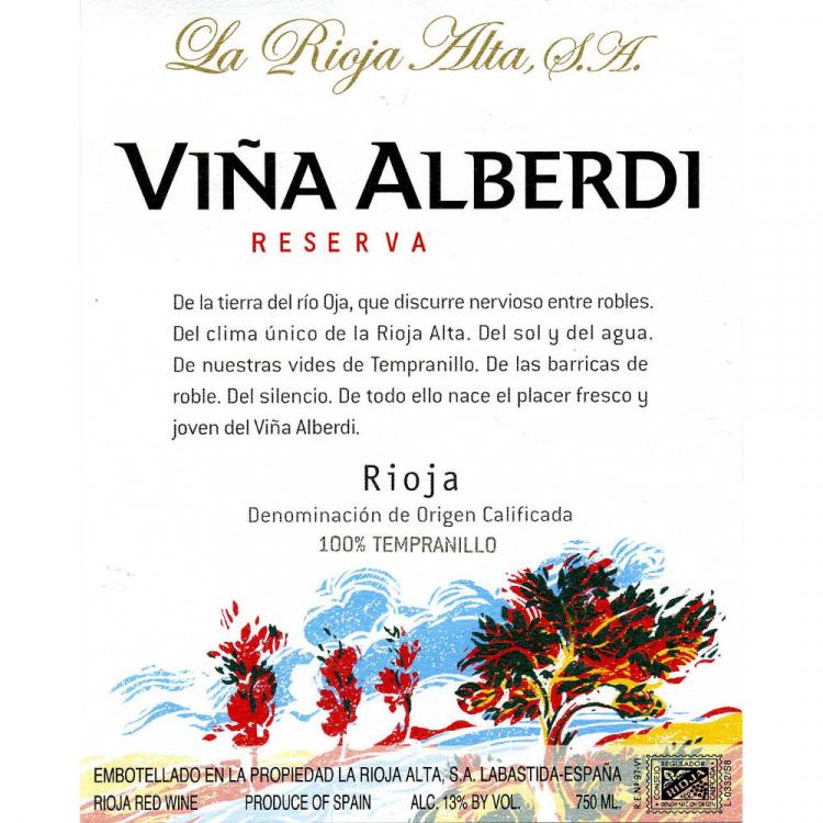 La Rioja Alta Vina Alberdi Reserva 2016 (12x75cl)