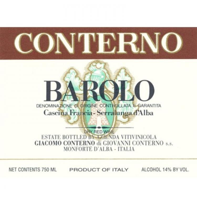 Giacomo Conterno Barolo Cascina Francia 2009 (6x75cl)