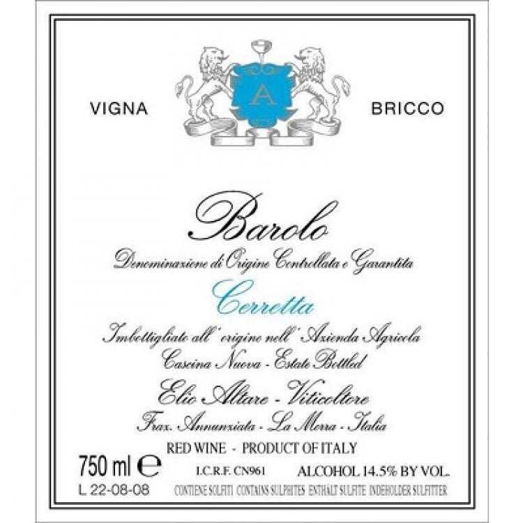 Elio Altare Barolo Cerretta Vigna Bricco 2012 (6x75cl)