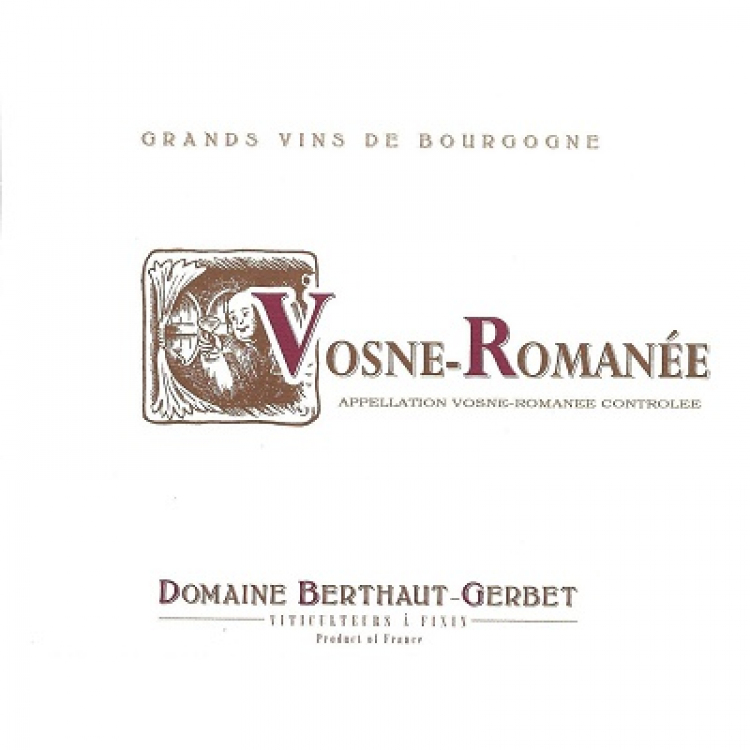 Berthaut-Gerbet Vosne-Romanee 2017 (6x75cl)