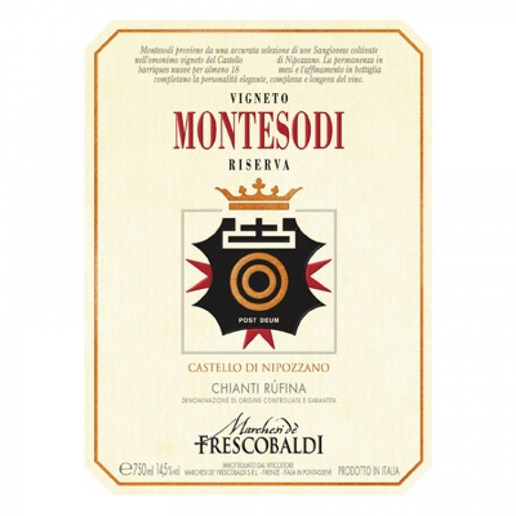 Frescobaldi Chianti Rufina Montesodi Castello Nipozzano Riserva 2016 (6x75cl)