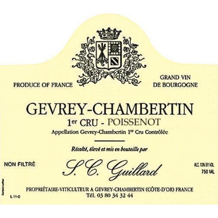 Guillard Gevrey-Chambertin 1er Cru Poissenot 2016 (6x75cl)