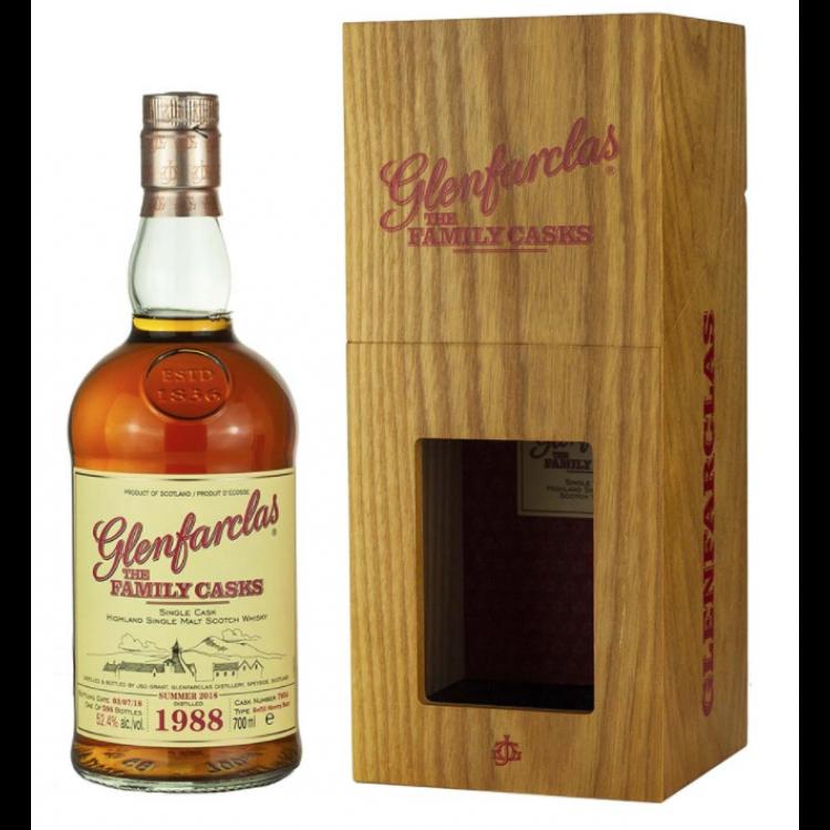 Glenfarclas Highland Single Malt The Family Casks S18 Refill Sherry Hogshead Single Cask 7054 Bottled 2018 1988 (1x70cl)