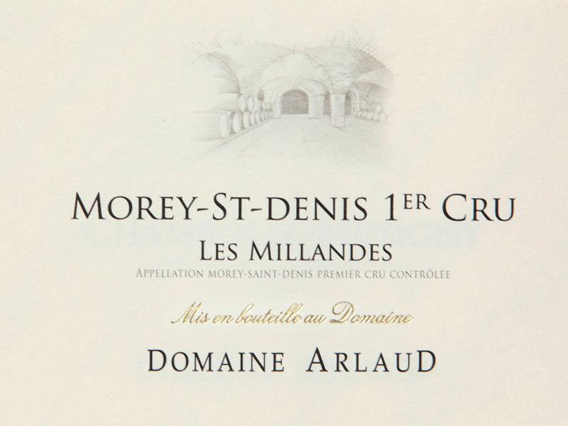 Arlaud Morey Saint Denis 1er Cru Millandes 2018 (6x75cl)