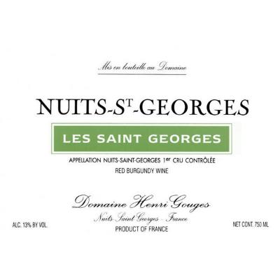 Henri Gouges Nuits-Saint-Georges 1er Cru Les Saint Georges 2015 (12x75cl)
