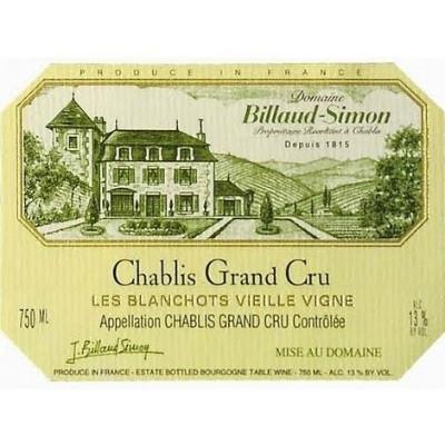 Billaud-Simon Chablis Grand Cru Les Blanchots VV 2010 (12x75cl)