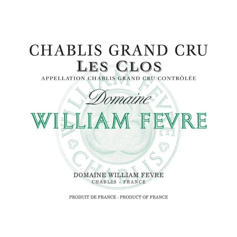 William Fevre Chablis Grand Cru Les Clos 2016 (6x75cl)