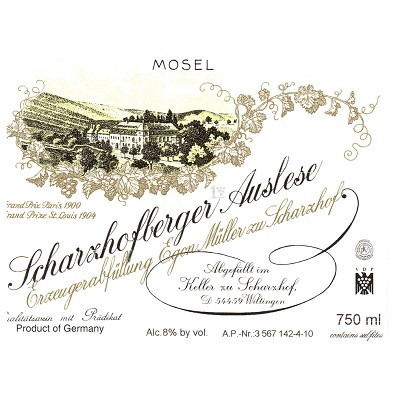Egon Muller Scharzhofberger Riesling Auslese 2015 (6x37.5cl)
