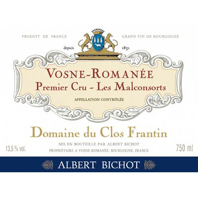 Clos Frantin (Albert Bichot) Vosne-Romanee 1er Cru Les Malconsorts 2018 (6x75cl)