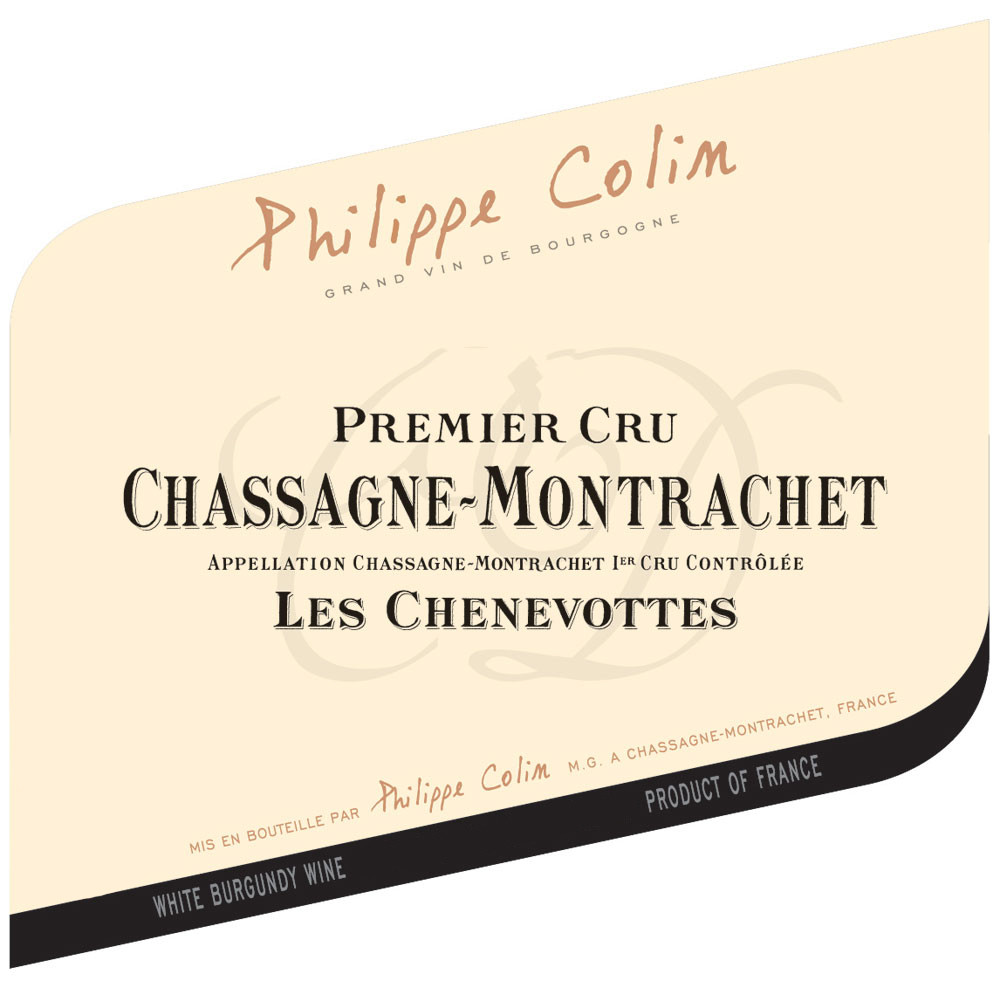 Philippe Colin Chassagne-Montrachet 1er Cru Les Chenevottes 2017 (6x75cl)