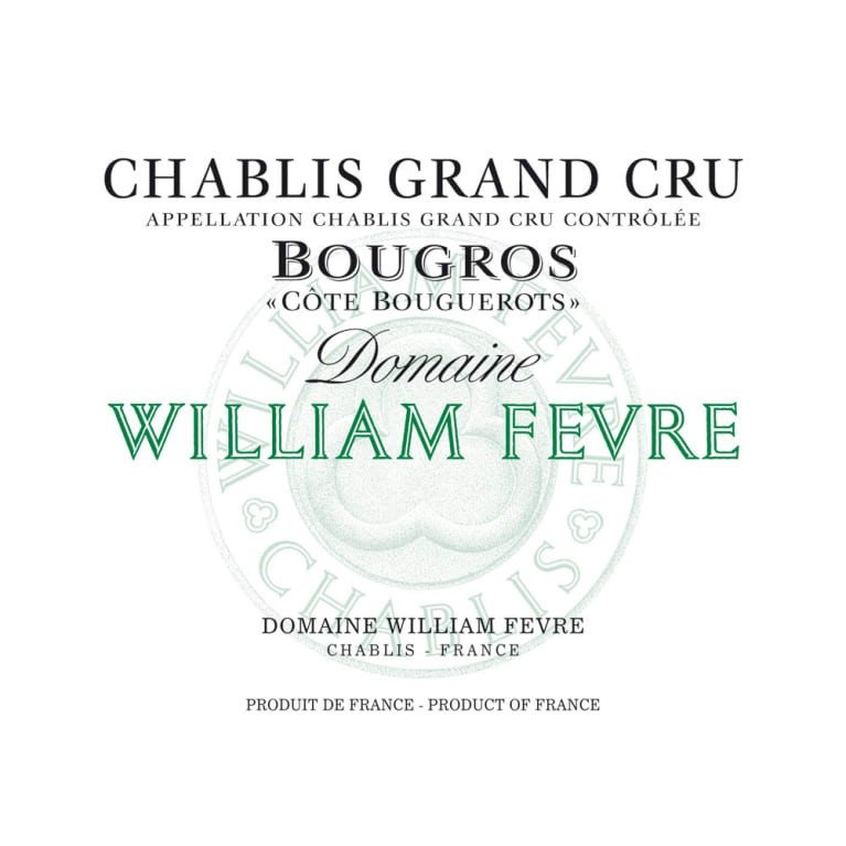 William Fevre Chablis Grand Cru Bougros Cote Bouguerots 2016 (6x75cl)