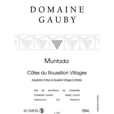 Gauby Cotes Roussillon Villages Muntada 2013 (6x75cl)