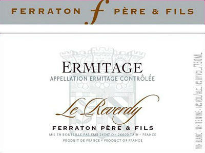 Ferraton Pere & Fils Ermitage Le Reverdy Blanc 2012 (6x75cl)