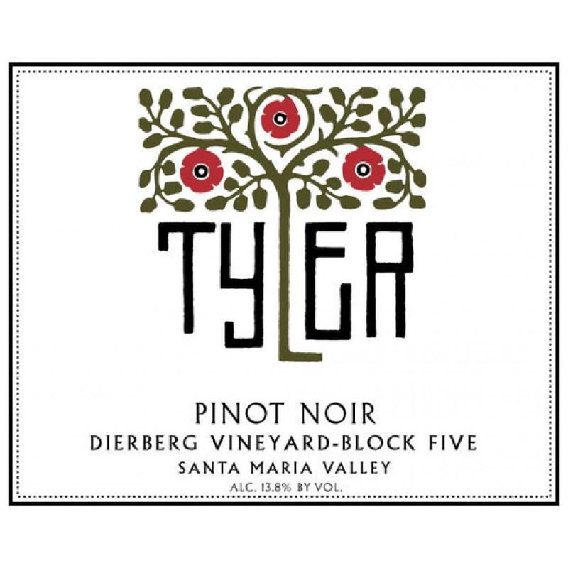 Tyler Pinot Noir Dierberg Block Five 2016 (12x75cl)