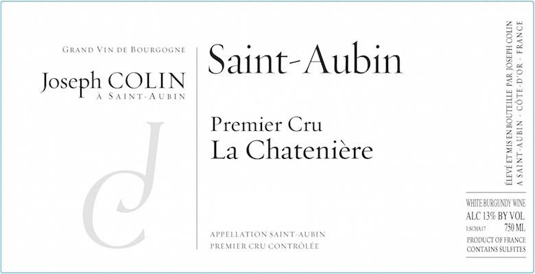 Joseph Colin St Aubin 1er Cru La Chateniere 2018 (6x75cl)