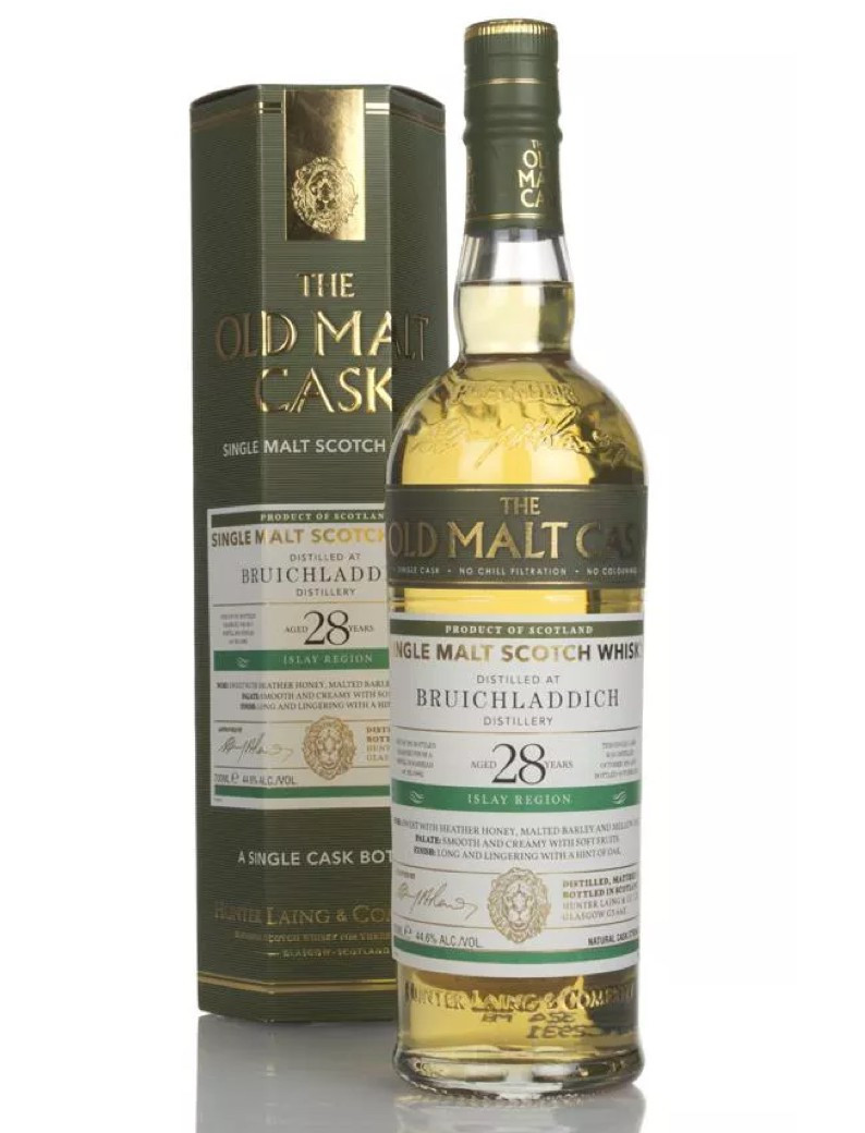 Bruichladdich (Hunter Laing) Islay Single Malt Old Malt Cask Refill Bourbon 16882 28YO Bottled 2019 1991 (1x70cl)