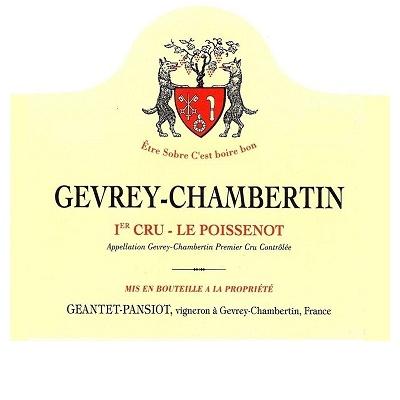 Geantet-Pansiot Gevrey-Chambertin 1er Cru Le Poissenot 2017 (6x75cl)
