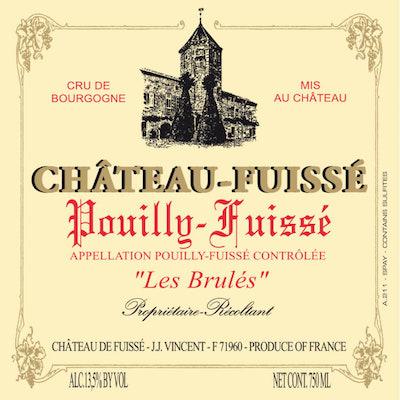 Chateau Fuisse Pouilly Fuisse Les Brules 2018 (12x75cl)