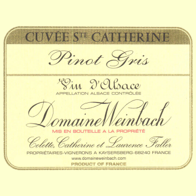 Weinbach Pinot Gris St Catherine 2019 (6x75cl)