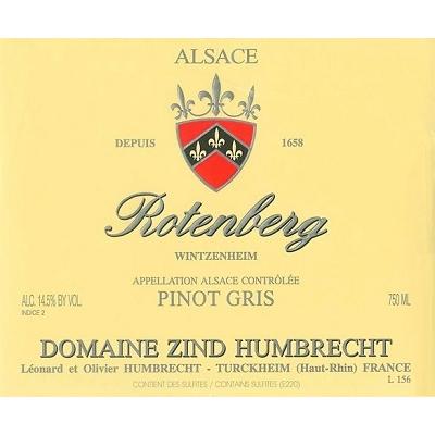 Zind Humbrecht Pinot Gris Rotenberg 2019 (6x75cl)