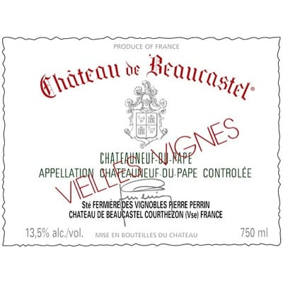 Beaucastel Chateauneuf-du-Pape Blanc Roussanne VV 2020 (3x75cl)