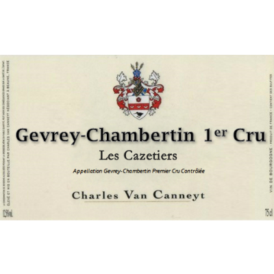 Charles Van Canneyt Gevrey-Chambertin 1er Cru les Cazetiers 2019 (6x75cl)