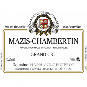 Harmand Geoffroy Mazis-Chambertin Grand Cru 2011 (6x75cl)