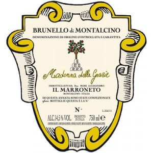 Il Marroneto Brunello di Montalcino Madonna delle Grazie DOCG 2015 (6x75cl)