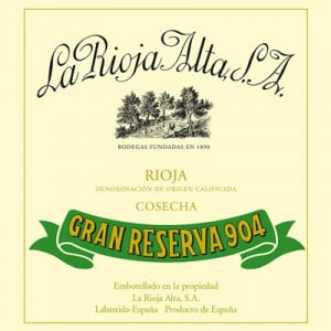 La Rioja Alta Gran Reserva 904 2009 (6x75cl)