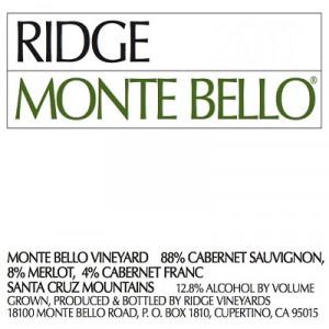 Ridge Monte Bello Red 2006 (6x75cl)