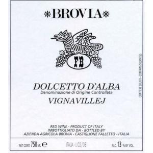 Brovia Dolcetto d'Alba Vigna Villej 2017 (6x75cl)