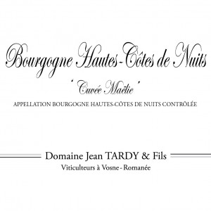 Jean Tardy Bourgogne Hautes-Cotes-de-Nuits Cuvee Maelie 2016 (12x75cl)