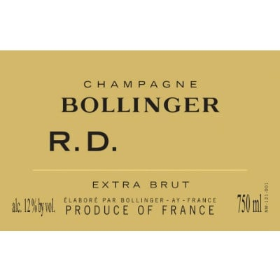 Bollinger RD 2002 (6x75cl)