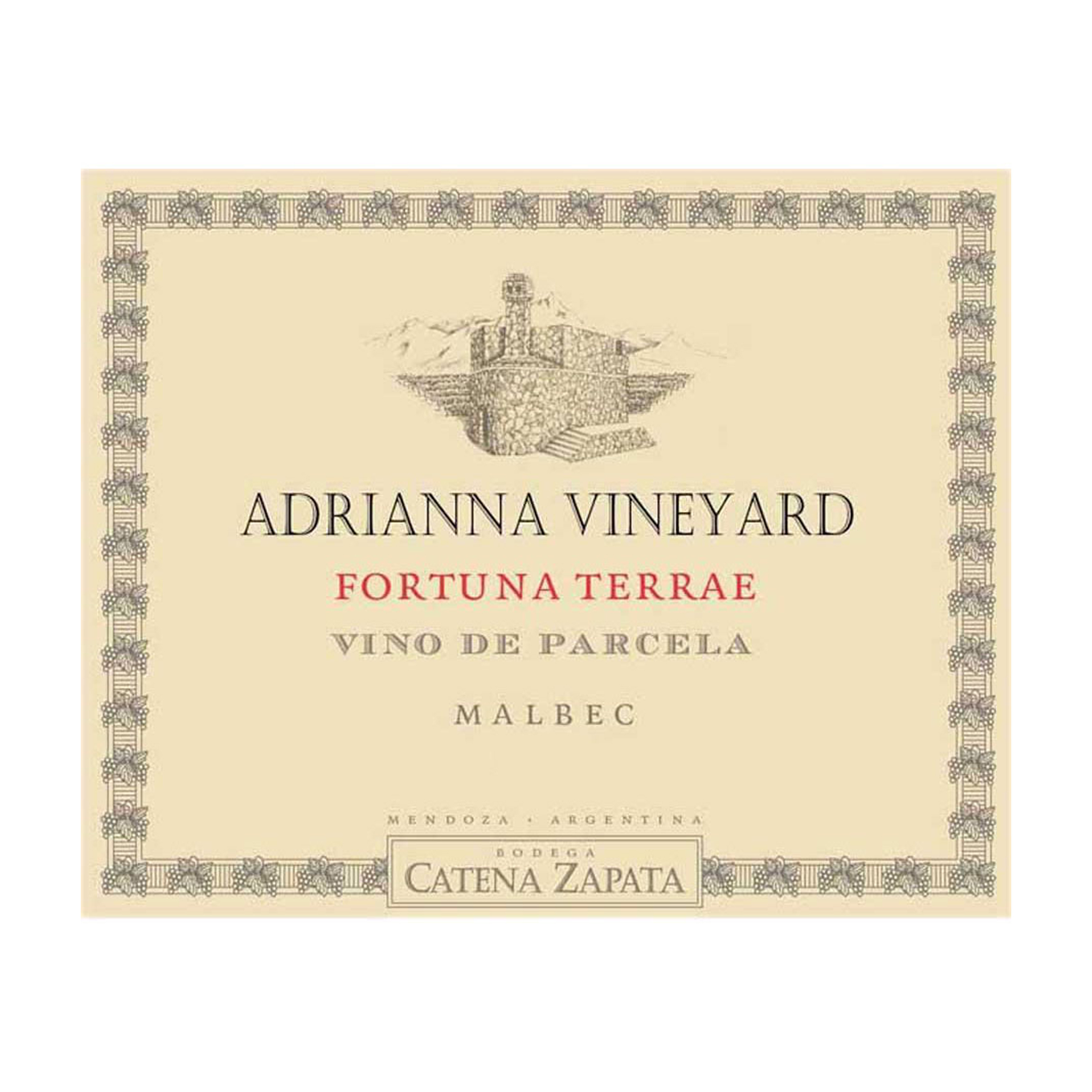 Catena Zapata Adrianna Vineyard Fortuna Terrae Malbec 2012 (3x75cl)
