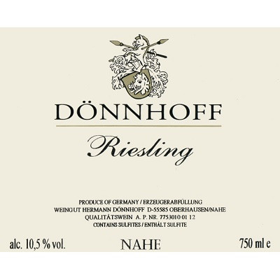 Donnhoff Riesling QbA 2015 (6x75cl)