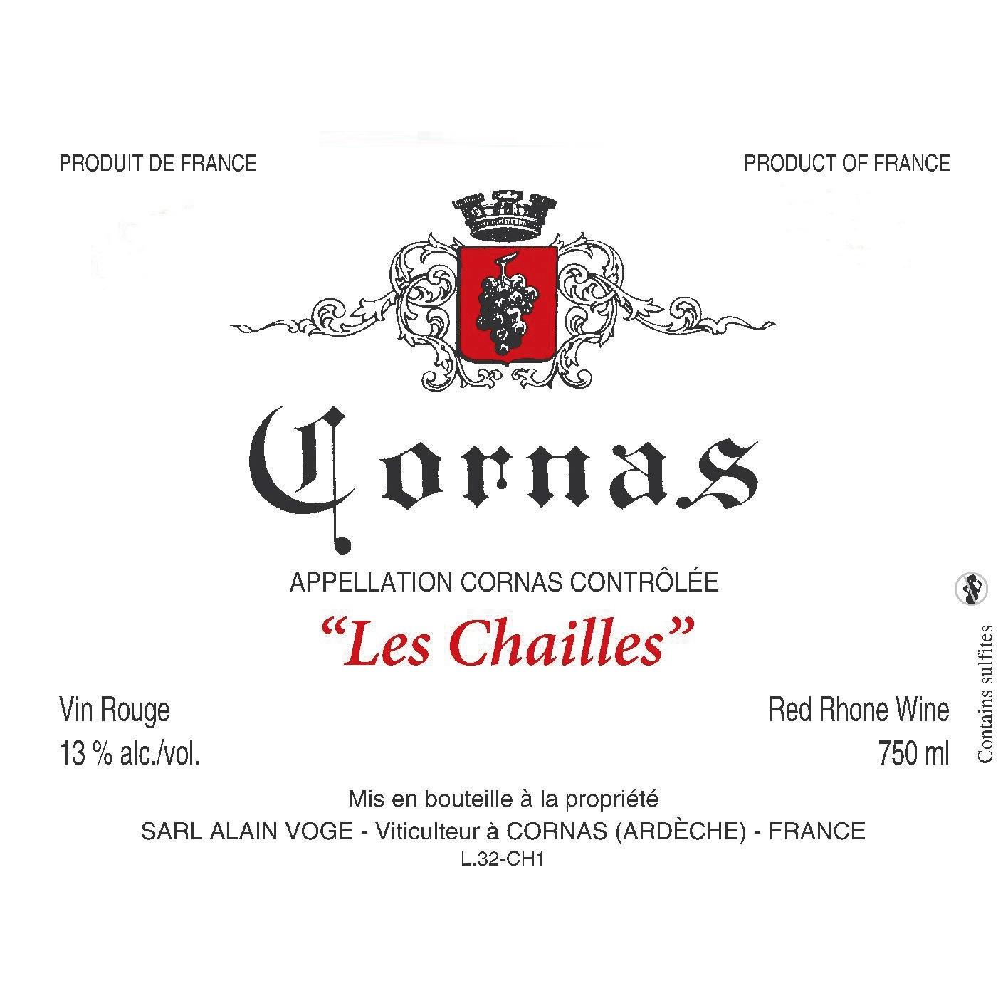 Alain Voge Cornas Les Chailles 2016 (12x75cl)