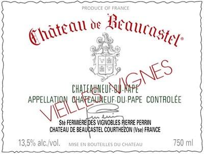 Beaucastel Chateauneuf-du-Pape Blanc Roussanne VV 2017 (3x75cl)