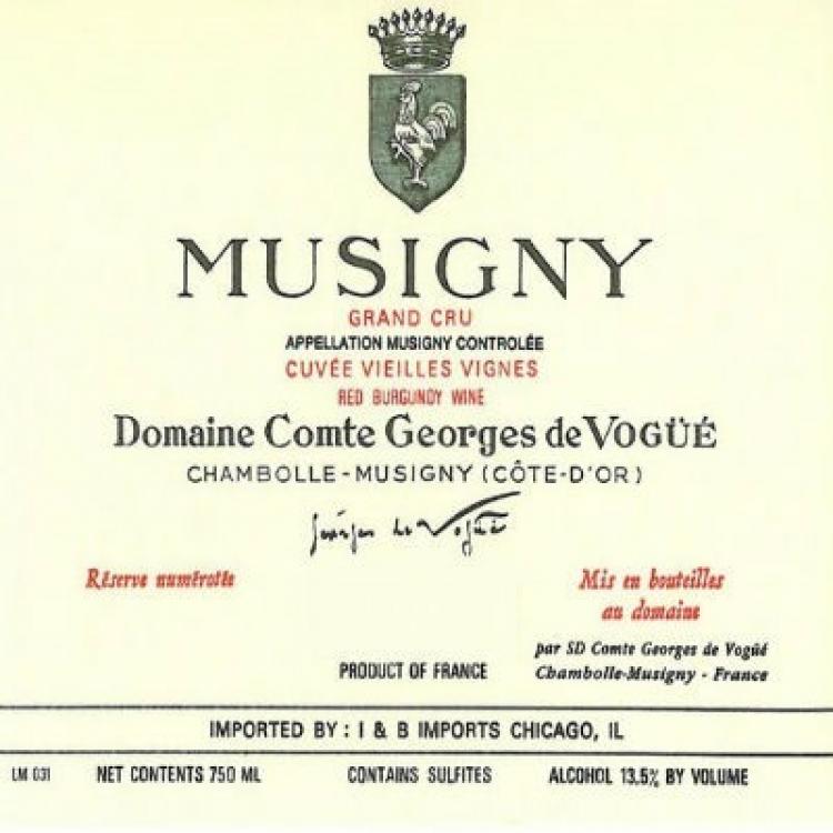Comte Georges de Vogue Musigny Grand Cru VV 2012 (3x75cl)