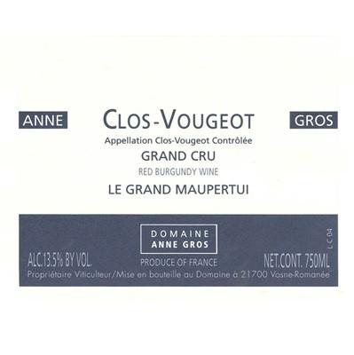 Anne Gros Clos-Vougeot Grand Cru Le Grand Maupertui 2018 (6x75cl)