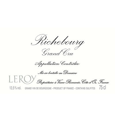 Domaine Leroy Richebourg Grand Cru 1991 (1x75cl)