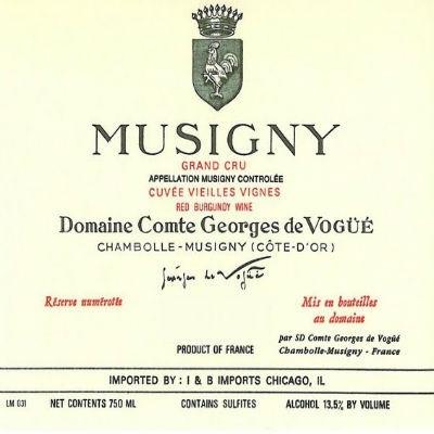 Comte Georges de Vogue Musigny Grand Cru VV 2013 (6x75cl)