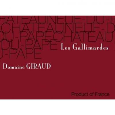 Giraud Chateauneuf-du-Pape Les Gallimardes 2016 (6x75cl)