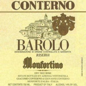 Giacomo Conterno Monfortino Barolo Riserva DOCG 2013 (3x75cl)