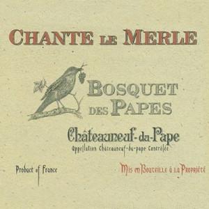 Bosquet des Papes Chateauneuf-du-Pape Chante Le Merle VV 2017 (6x75cl)