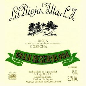La Rioja Alta Gran Reserva 904 2011 (6x75cl)