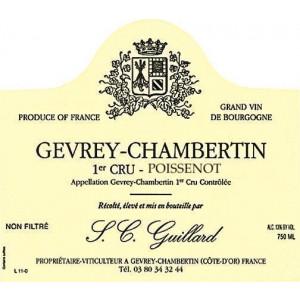 Guillard Gevrey-Chambertin 1er Cru Poissenot 2015 (6x75cl)
